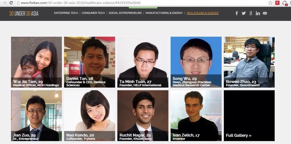 Ta Minh Tuan Top 30 under 30 Forbes Asia