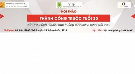[You Up tour] Thành công trước tuổi 30 - Trường Đại Học Công nghiệp Hà Nội