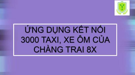 Ứng dụng kết nối 3.000 taxi, xe ôm của chàng trai 8x