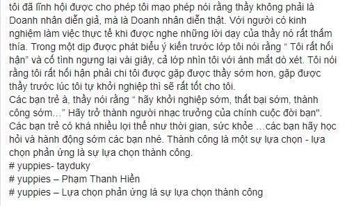 Phạm Thanh Hiền (tiếp theo)